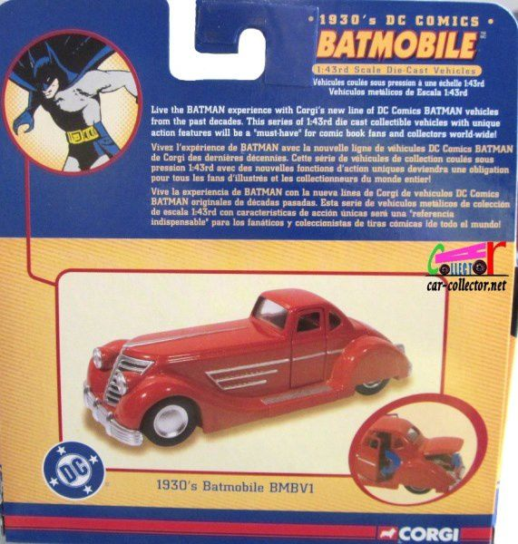 BATMOBILE 1930 BATMAN DC COMICS CORGI 1/43