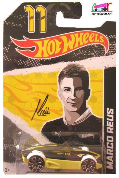 MR11 MARCO REUS JOUEUR DE FOOT HOT WHEELS 1/64 SOCCER PLAYER N°11
