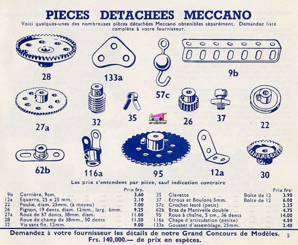 CATALOGUE MECCANO 1952