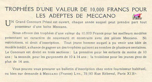 CATALOGUE MECCANO 1922