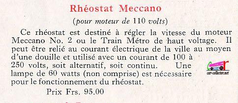 CATALOGUE MECCANO 1930
