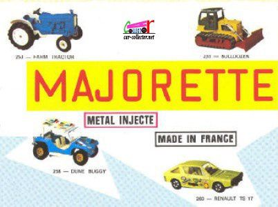 CATALOGUE MAJORETTE 1974