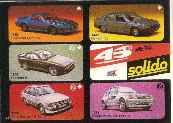 CATALOGUE SOLIDO 1986