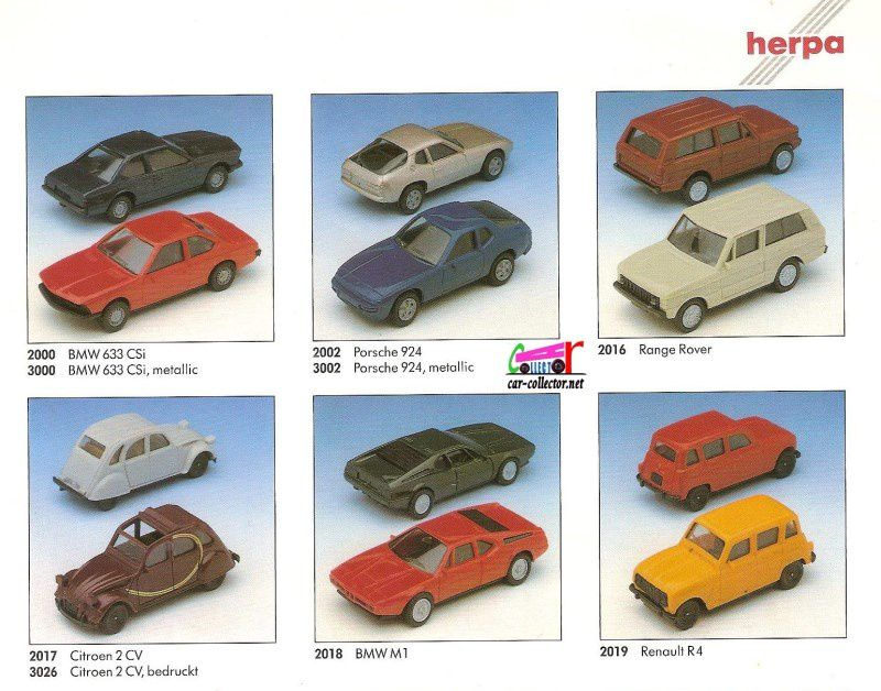 CATALOGUE HERPA 1989 - DEUTCHES KATALOG HERPA 1989