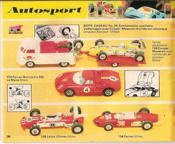 CATALOGUE CORGI 1971-72 EN FRANCAIS