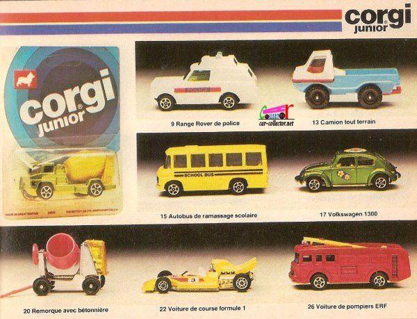 CATALOGUE CORGI 1977