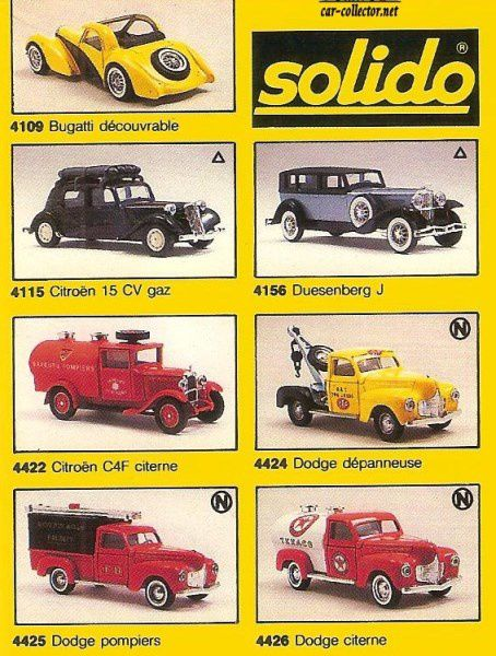 CATALOGUE SOLIDO 1988