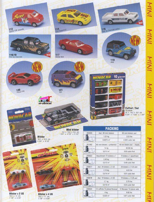 CATALOGUE MAJORETTE 1996
