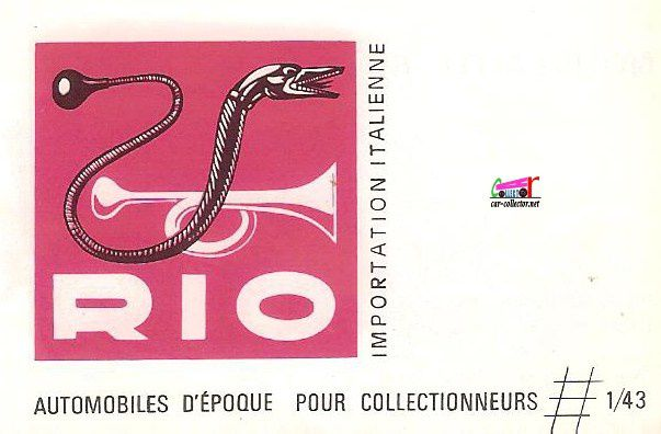 CATALOGUE RIO 1966 IMPORTATION ITALIENNE