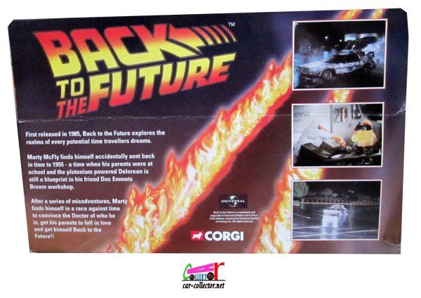 TIME MACHINE DELOREAN BACK TO THE FUTURE CORGI 1/36 DOC BROWN MICHAEL J.FOX &amp&#x3B; LLOYD