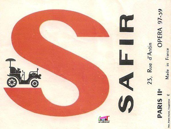 CATALOGUE SAFIR 1963