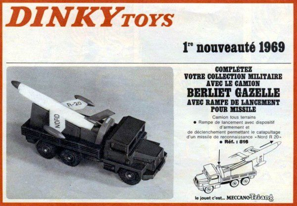 PUBLICITES DINKY TOYS