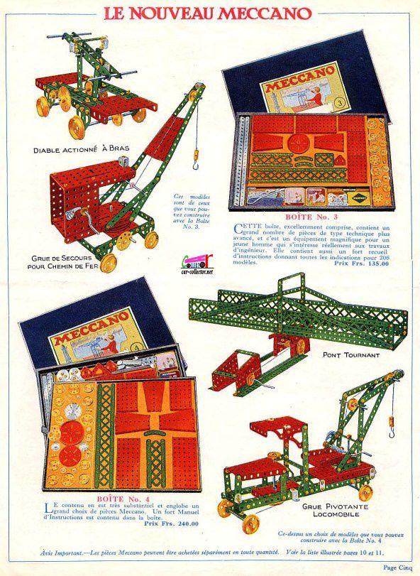 CATALOGUE MECCANO 1927