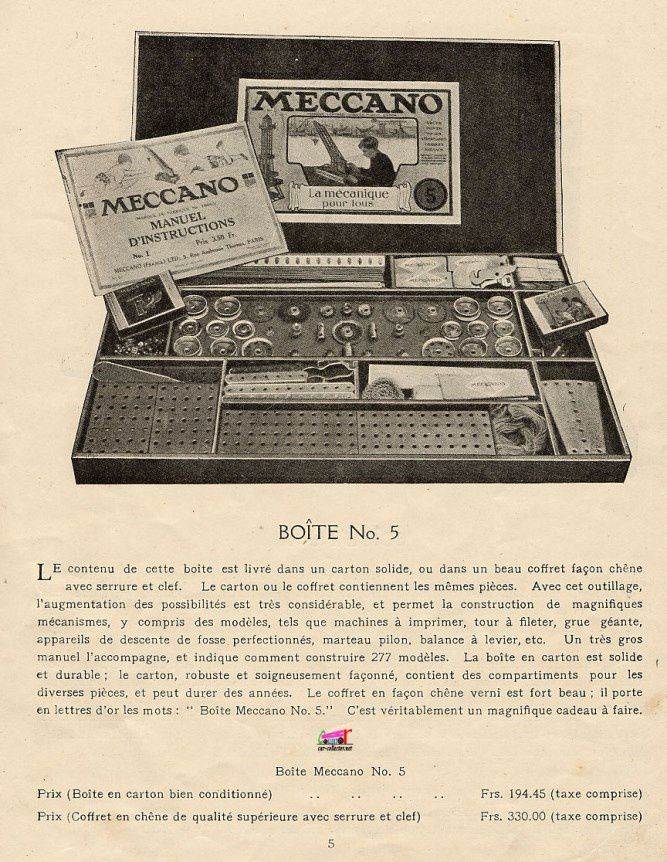 CATALOGUE MECCANO 1923
