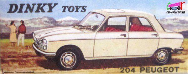 FASCICULE N°2 PEUGEOT 204 BERLINE 1965 DINKY TOYS 1/43 REEDITION ATLAS