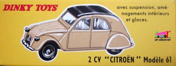 FASCICULE N°2 CITROEN 2CV MODELE 61 DINKY TOYS REPRODUCTION ATLAS