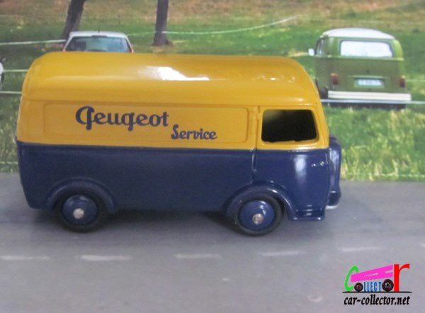 FOURGON TOLE PEUGEOT D3A PEUGEOT SERVICE DINKY TOYS REEDITION ATLAS 1/43