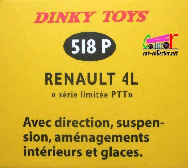 COFFRET COLLECTOR LES RENAULT 4 DE LEGENDE R4 PTT ET R4 POMPIERS DINKY TOYS REEDITION ATLAS 1/43