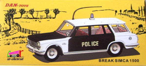 BREAK SIMCA 1500 POLICE DAN-TOYS 1/43