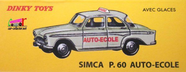 simca p60 auto ecole bobigny dinky toys reedition atlas 1 43 car. Black Bedroom Furniture Sets. Home Design Ideas