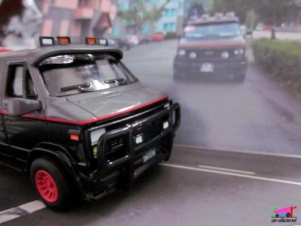 THE A TEAM VAN GMC VANDURA G20 AGENCE TOUS RISQUES SERIE TV HOT WHEELS 1/50