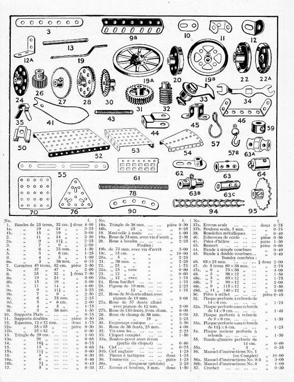 Catalogue meccano le tapis magique 1926 car - Pieces detachees meccano ...