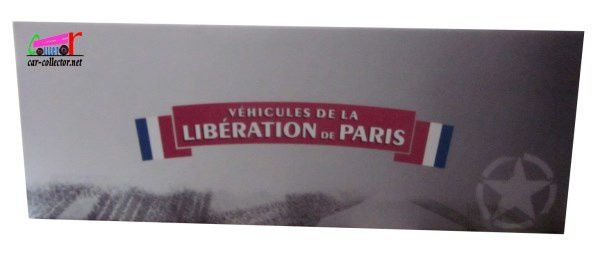 COFFRET COLLECTOR LA LIBERATION DE PARIS TRACTION 11 FFI RENAULT AHN ATLAS