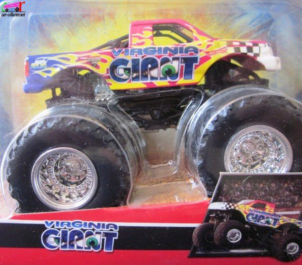 VIRGINIA GIANT BIG FOOT HOT WHEELS 1/64