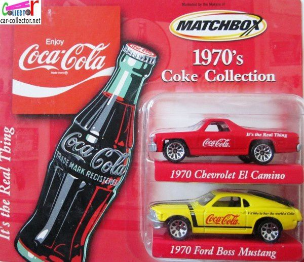 70 EL CAMINO ET 70 FORD BOSS MUSTANG COKE COLLECTION MATCHBOX