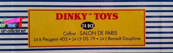 COFFRET COLLECTOR SALON DE PARIS DINKY TOYS REEDITION ATLAS 1/43