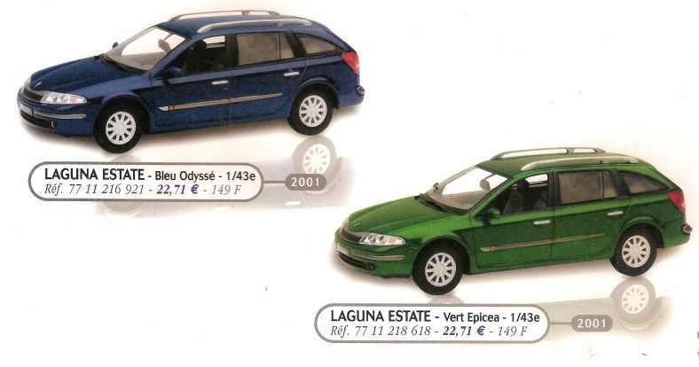CATALOGUE RENAULT MINIATURES AOUT 2001
