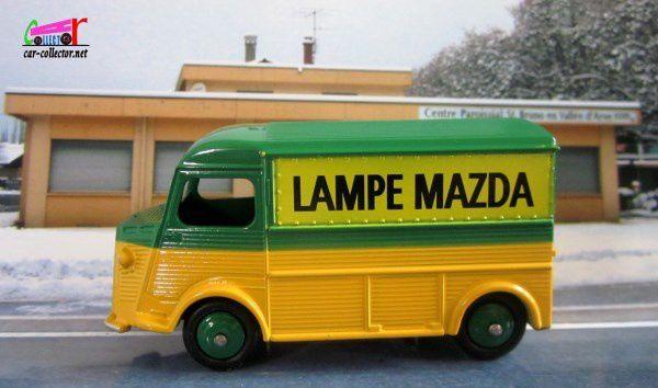 "FOURGON CITROEN TYPE H ""LAMPE MAZDA"" DINKY TOYS REEDITION ATLAS 1/43"
