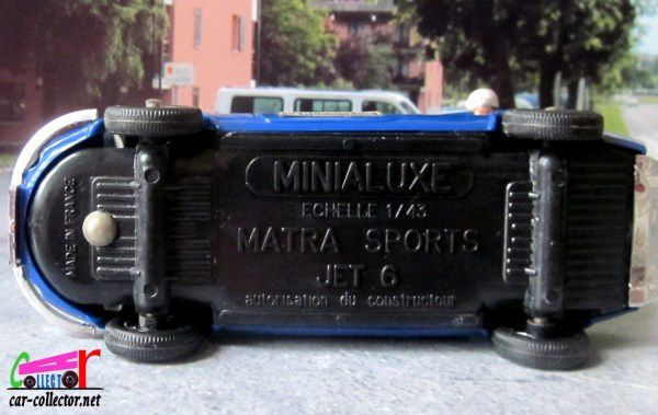 MATRA SPORTS JET 6 1966 GENDARMERIE MINIALUXE 1/43