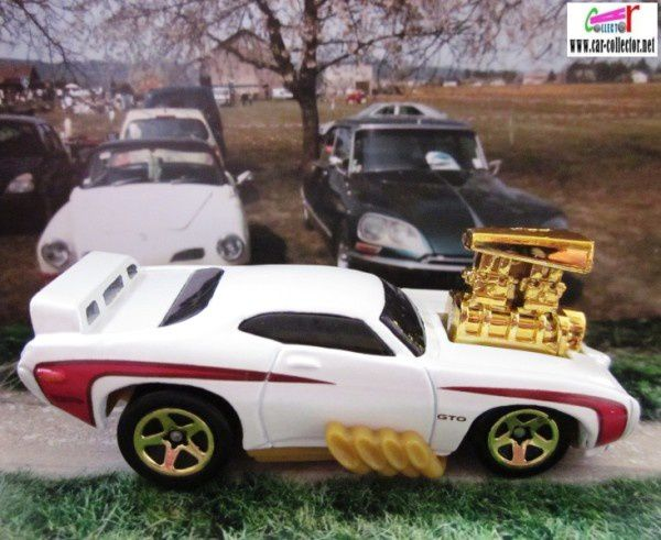 1969 PONTIAC GTO THE JUDGE HOT WHEELS 1/64 DRAGSTER TOONED GROS MOTEUR