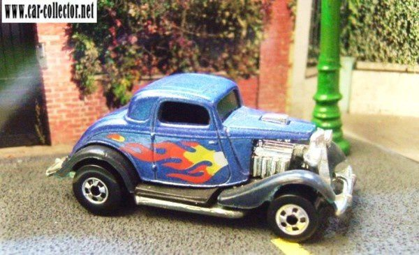 FORD 3 WINDOW 1934 HOT WHEELS 1/64