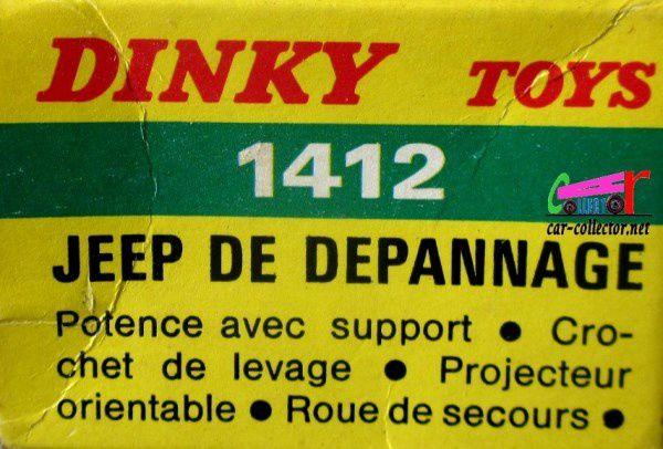HOTCHKISS JEEP WILLYS DE DEPANNAGE DINKY TOYS 1/43