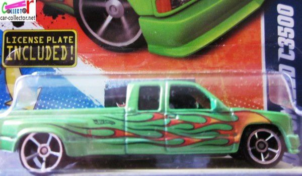 CUSTOMIZED C3500 PICKUP CHEVROLET HOT WHEELS 1/64