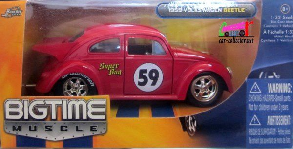 VW COX SUPER BUG 1959 JADA TOYS 1/32 BIGTIME MUSCLE COCCINELLE BEETLE