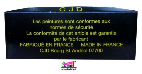 PEUGEOT 205 GTI FIMM FESTIVAL INTERNATIONAL MINIATURE MONTELIMAR CJD 1/43