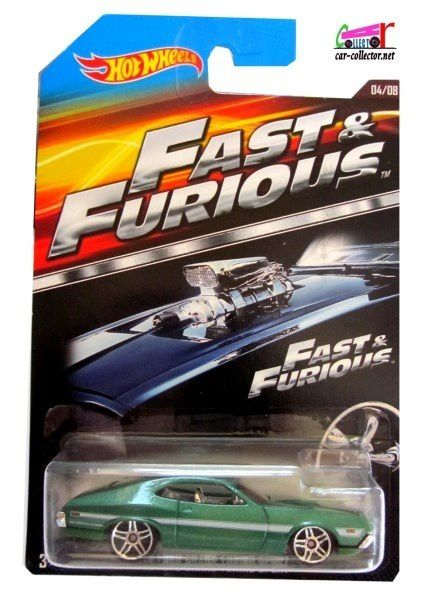 72 FORD GRAN TORINO SPORT FAST AND FURIOUS HOT WHEELS 1/64