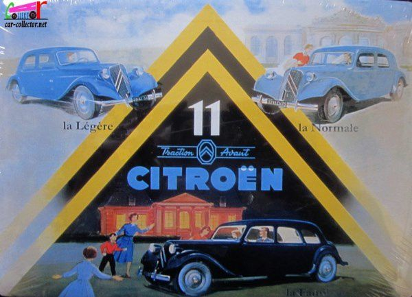 CARTE POSTALE EN METAL CITROEN TRACTION AVANT