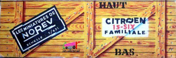 CITROEN TRACTION 15 SIX FAMILIALE 1954 PEINTURE GRISE NOREV 1/43