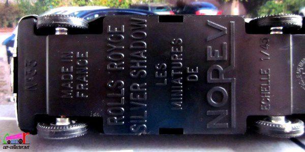ROLLS-ROYCE SILVER SHADOW 1 1965 NOREV 1/43