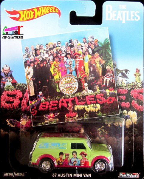 67 AUSTIN MINI VAN THE BEATLES HOT WHEELS 1/64