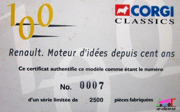 RENAULT FAINEANT 1957 EAU DE VICHY CORGI 1/50