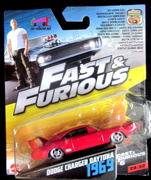 DODGE CHARGER DAYTONA 1969 FAST AND FURIOUS 6 MATTEL 1/55