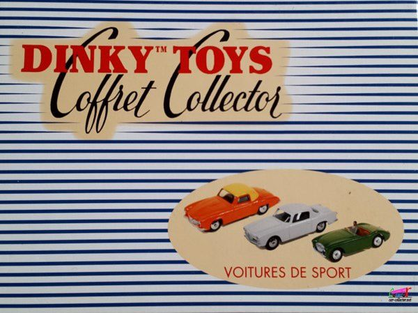 COFFRET COLLECTOR VOITURES DE SPORT DINKY TOYS REEDITION ATLAS 1/43