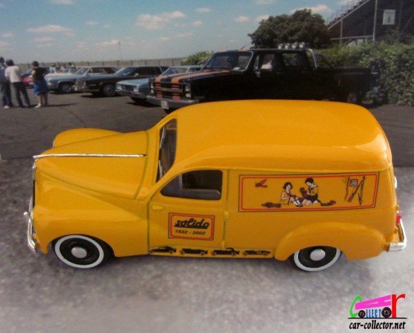 PEUGEOT 203 COMMERCIALE 1954 EDITION SPECIALE 70 ANS SOLIDO 1/43