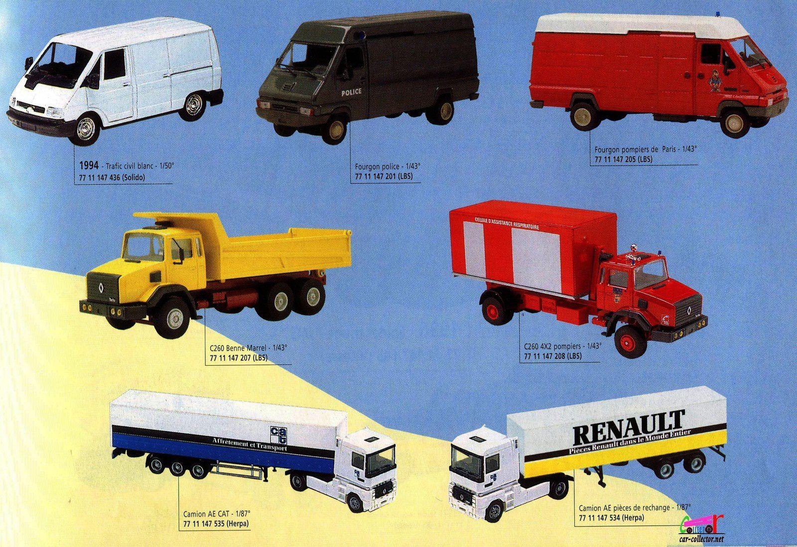 CATALOGUE MINIATURES RENAULT 1997