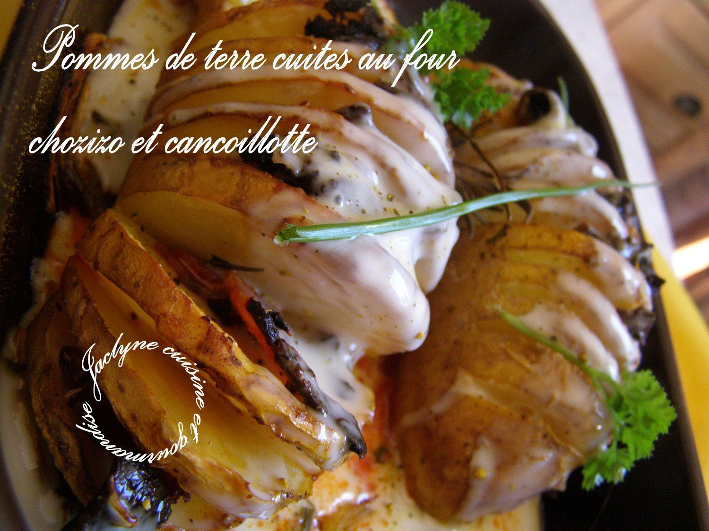 Pommes de terre cuites au four en cie de chorizo fort oignons cancoillotte simple et bon - Conservation pommes de terre cuites ...
